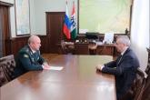 Губернатор Андрей Травников провел рабочую встречу с начальником Сибирского таможенного управления Александром Ястребовым