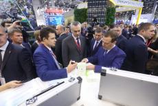 Врио Губернатора Андрей Травников представил Председателю Правительства РФ Дмитрию Медведеву инвестиционные проекты региона на форуме в Сочи