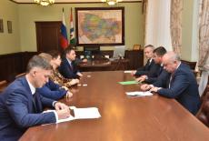 Андрей Травников провел рабочую встречу с генеральным директором Coca-Cola HBC Россия Александаром Ружевичем