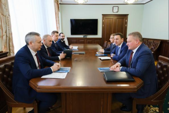 Губернатор Андрей Травников провёл рабочую встречу с руководством банка «Санкт-Петербург»